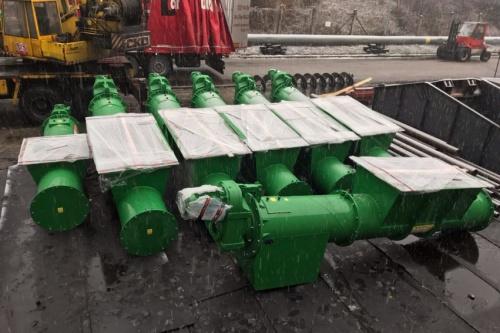 spirálové dopravníky RLE 600, 3310 mm + 4575 mm, OKD a.s.